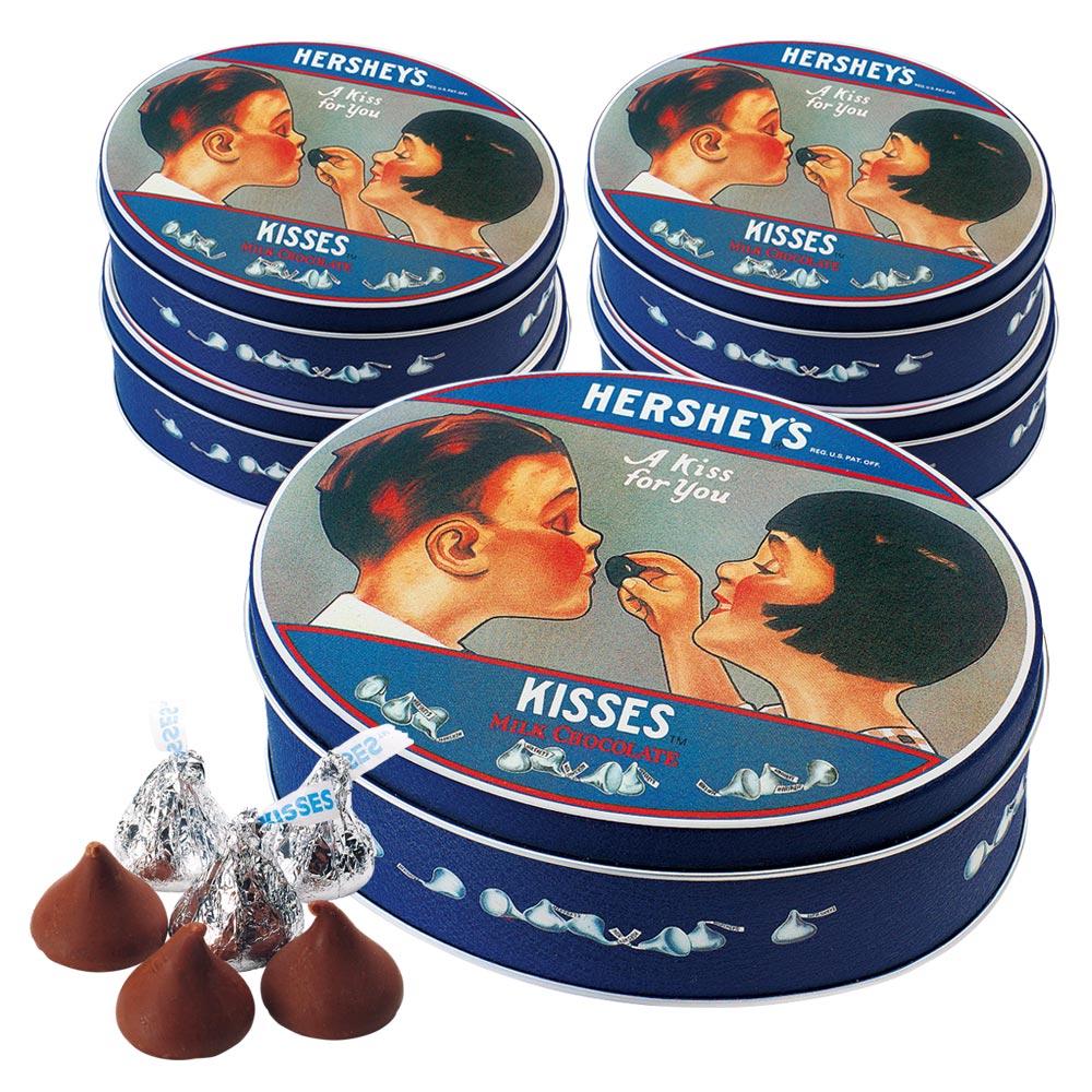 アメリカお土産 | ハーシー HERSHEY'S ノスタルジックキスチョコレート 5缶セット【182007】