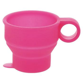 旅行用品 | たためるミニコップ ピンク 【T30142】