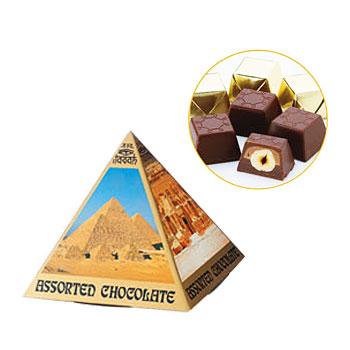 [エジプト土産] ピラミッド ヘーゼルナッツチョコレート 1箱 【100283】