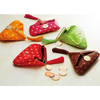 イタリアお土産 | イタリア 豚革三角コインケース 1個 【161098】