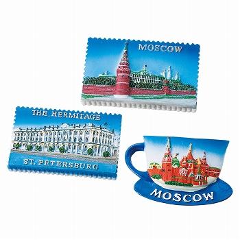 ロシアお土産   ロシア マグネット 3種セット【171266】