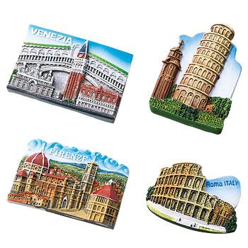 イタリアお土産 | イタリア世界遺産マグネット 4個セット 【161100】