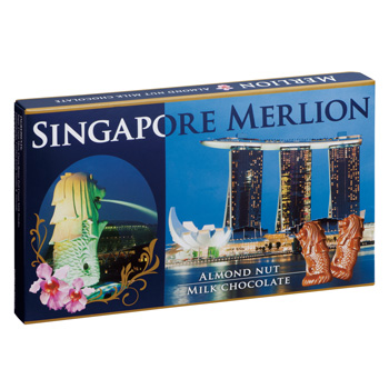 シンガポールお土産 | マーライオン アーモンドチョコレート 1箱【176047】