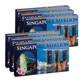 シンガポールお土産 | マーライオン アーモンドチョコレート 6箱セット【176048】