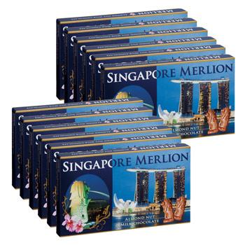 シンガポールお土産 | マーライオン アーモンドチョコレート 12箱セット【176049】
