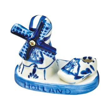 オランダお土産 | オランダ デルフト焼風置物【171202】