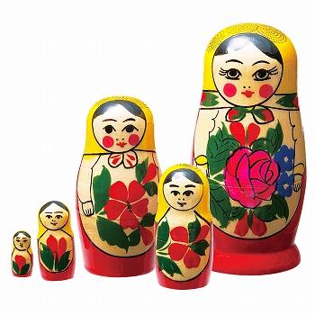 ロシアお土産   マトリョーシカ 5人組【171261】