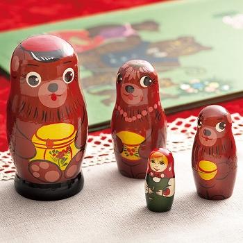 ロシアお土産   3匹のクマのマトリョーシカ【161805】