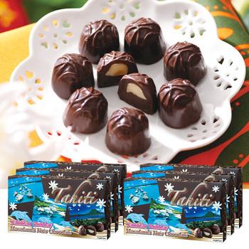 タヒチお土産 | タヒチ マカデミアナッツチョコレート 6箱セット【184105】