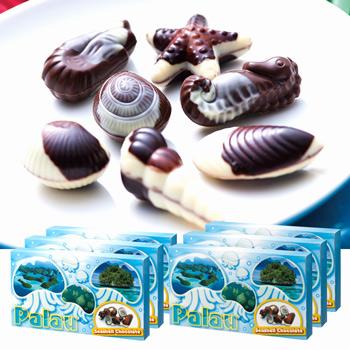 パラオお土産 | パラオ シーシェルチョコレート ドルフィン紙袋付き 6箱セット【174065】