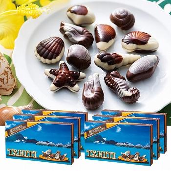 タヒチお土産 | タヒチ シーシェルチョコレート ドルフィン紙袋付き 6箱セット【174102】