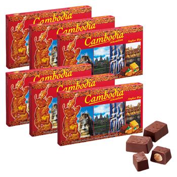 カンボジアお土産 | カンボジア アーモンドチョコレート 6箱セット【176118】