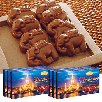 タイお土産 | エレファントチョコレート 6箱【176003】