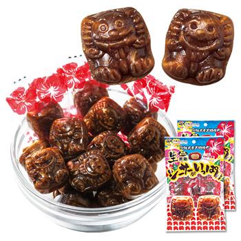 沖縄土産 | 生黒糖キャンディ シーサーがいっぱい2袋セット 個包装 [別送][代引・翌日配送不可]【J17256】