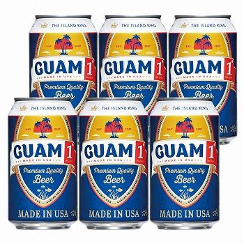 グアムお土産   グアム1(ワン)ビール 6缶セット【R84001】