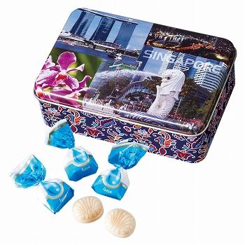 シンガポールお土産 | シンガポール バティック缶入りミルクキャンディ【186055】