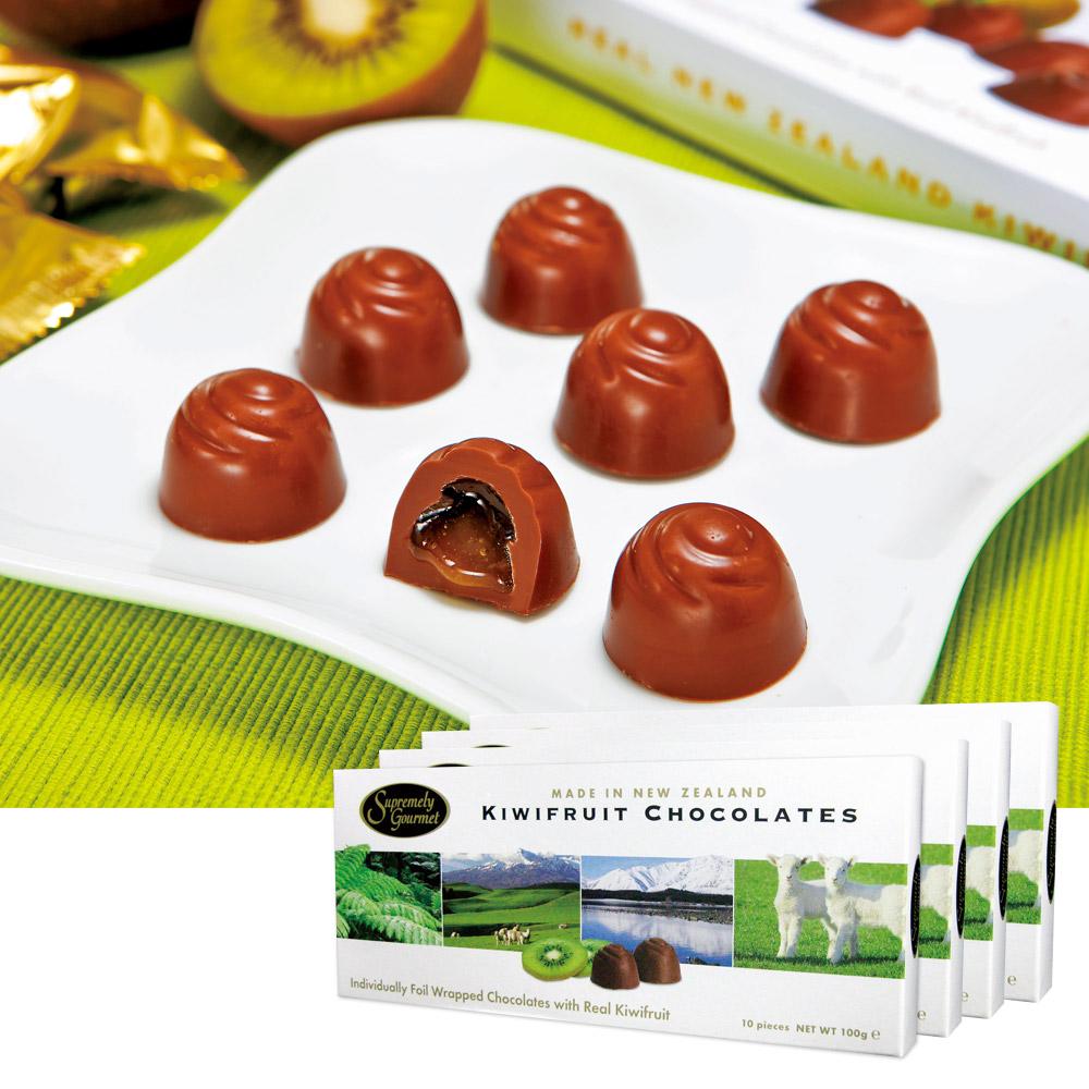 ニュージーランドお土産 | キウイフルーツチョコレート 4箱セット【185057】
