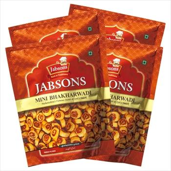 モルディブ・インドお土産 | ジョブソンズ Jabsons ミニ バクルワディ スナック 4袋セット【174050】