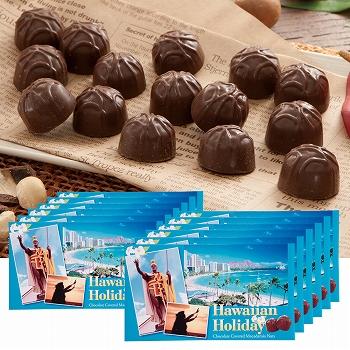 ハワイお土産 | ハワイアンホリデー マカデミアナッツ チョコレート ドルフィン紙袋付き 12箱セット【173003】