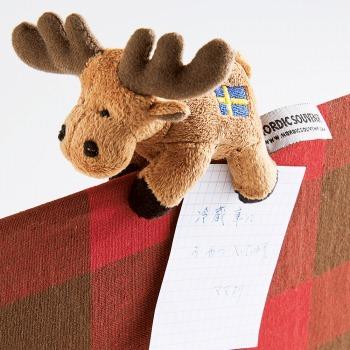 スウェーデンお土産 | マグネット付き エルクぬいぐるみ【181302】