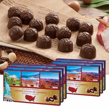 アメリカお土産 | アメリカ世界遺産チョコレート 6箱セット【182002】