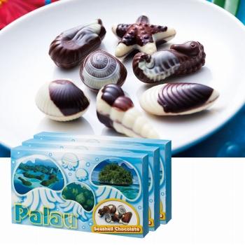 パラオお土産 | パラオ シーシェルチョコレート ドルフィン紙袋付き 3箱セット【174064】