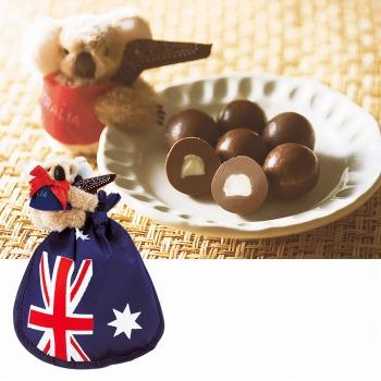 オーストラリアお土産 | コアラクリップ付き マカデミアナッツ チョコレート【175012】