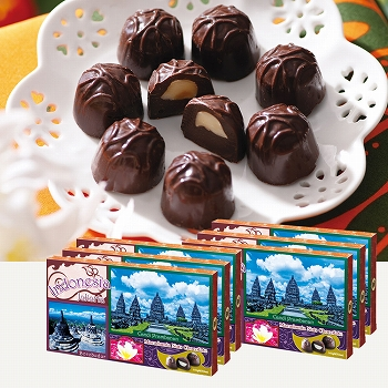 バリ・インドネシアお土産 | ジャカルタ マカデミアナッツチョコレート 6箱セット【176069】