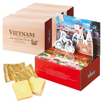 ベトナムお土産 | ベトナム風景ラスク 4箱セット【186032】