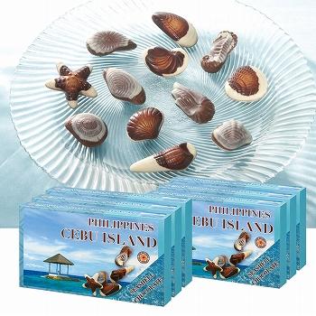 フィリピンお土産 | セブ シーシェルチョコレート 6箱セット【186116】