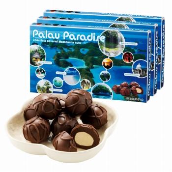 パラオお土産 | パラオパラダイス マカデミアナッツチョコレート 3箱セット【184070】