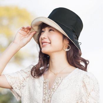 旅行用品 | ポーチ付き晴雨兼用 リバーシブルハット 帽子【T44170】