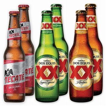メキシコお土産 | ドスエキス ラガー&アンバー・テカテビール飲み比べ6本セット【904813】