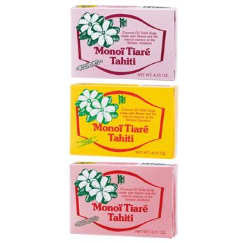 タヒチお土産 | タヒチ モノイティアレ 石けん 3種 3個セット【174115】
