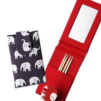 タイお土産 | 象さん 鏡付きつまようじ入れ 2個セット【176021】
