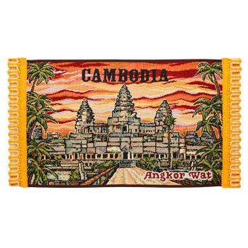 カンボジアお土産 | アンコールワット テーブルセンター【176124】