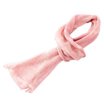 [ペルー土産] ベビーアルパカ 草木染スカーフ ピンク 【919026】