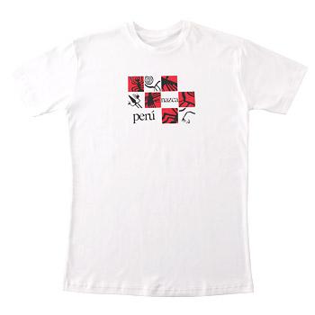 [ペルー土産] ピーマコットンTシャツ(メンズ) ナスカ 【919032】