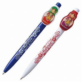 ロシアお土産   マトリョーシカ柄ボールペン 2本セット【171269】
