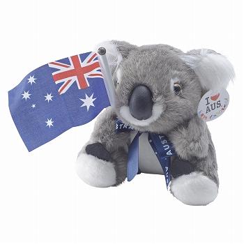 オーストラリアお土産 | フラッグコアラぬいぐるみ【175035】