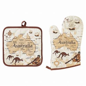 オーストラリアお土産 | オーストラリア ミトン&鍋敷きセット【175040】