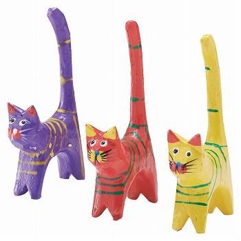 インドネシアお土産 | バリ猫置物 3個セット【176084】