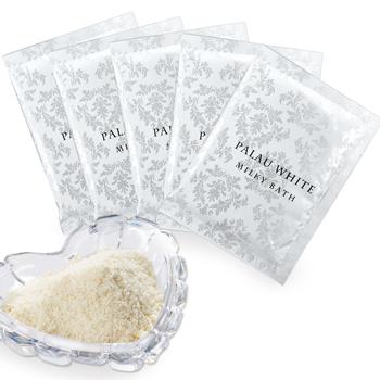 パラオお土産 | パラオホワイト ミルキィバス バスソルト 粉末入浴剤 5袋セット