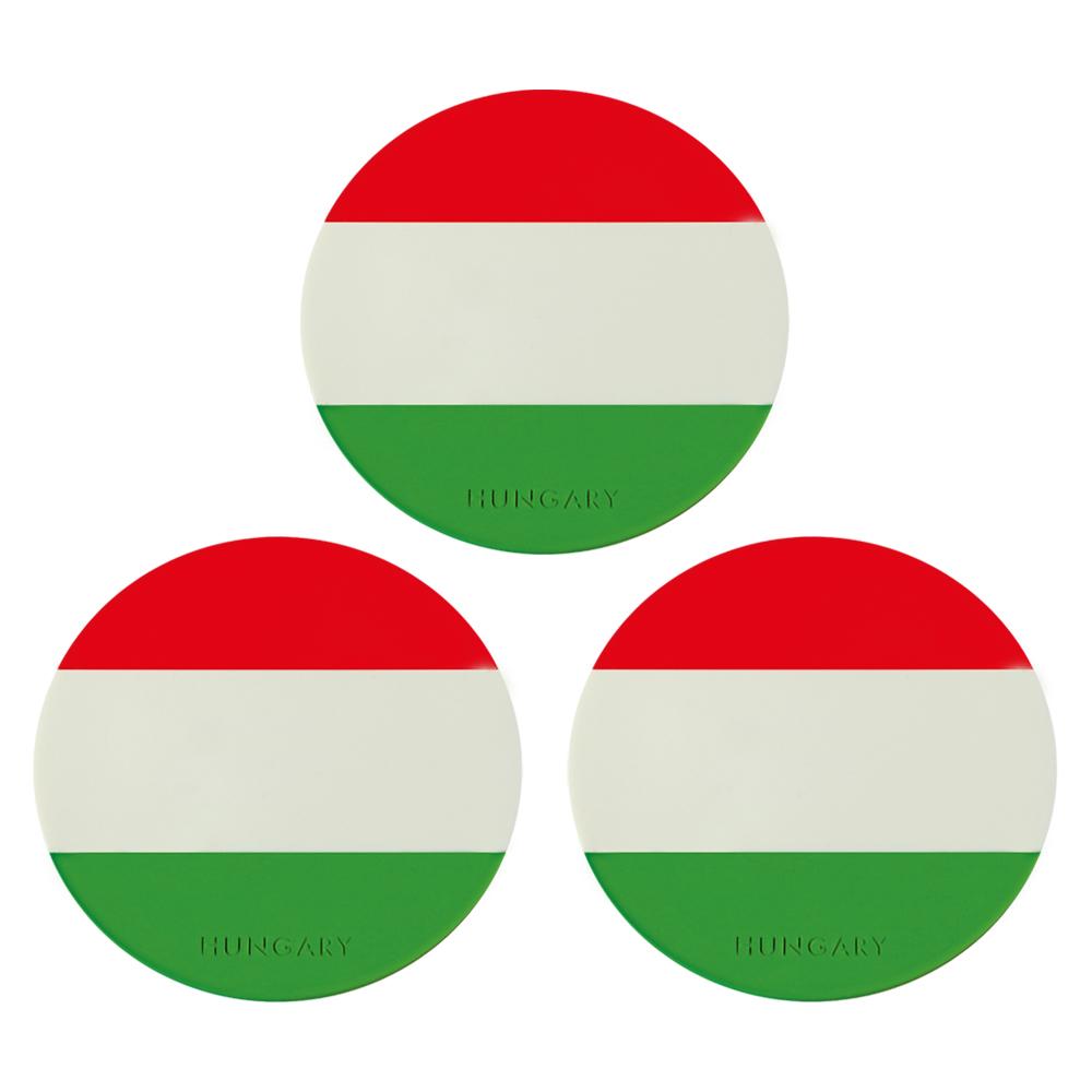ハンガリーお土産 | ハンガリーフラッグコースター 3枚セット【171421】