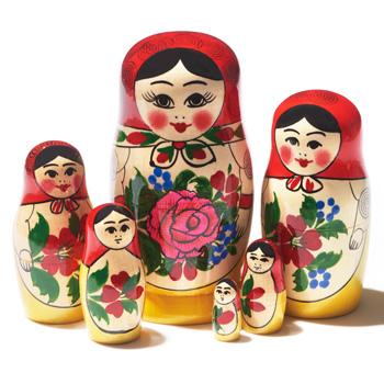 ロシアお土産 | マトリョーシカ 6人組【181272】