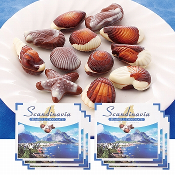 北欧お土産 | 北欧 シーシェル チョコレート 6箱セット【181283】