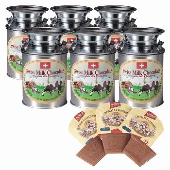 [スイスお土産]スイス ミルク缶チョコレート 6缶セット【151250】