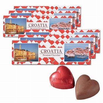 クロアチアお土産 | クロアチア ハートチョコレート6箱セット【181256】