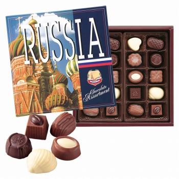 ロシアお土産   ロシア アソートチョコレート 1箱 【105407】