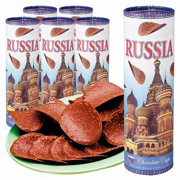 ロシアお土産   ロシア チョコチップス 6箱セット【171256】